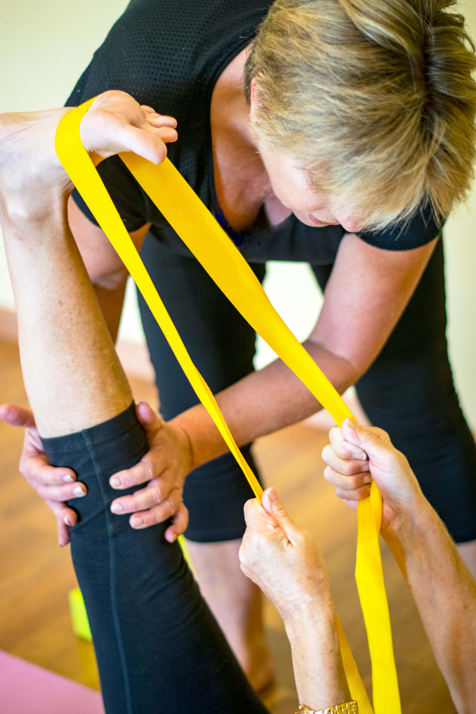 Pilates classes with elastic bands